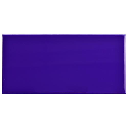 "Picture of Park Slope Subway Royal Blue 3""x6"" Ceramic W Tile"