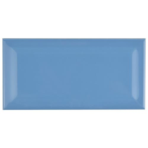 "Picture of Park Slope Subway Beveled Calm Blue 3""x6"" Ceramic W Tile"