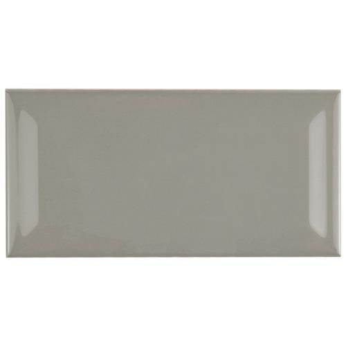 "Picture of Park Slope Subway Beveled Warm Grey 3""x6"" Ceramic W Tile"